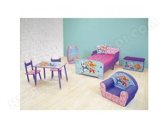 chambre compl te 6 en 1 pat 39 patrouille fille jemini ma. Black Bedroom Furniture Sets. Home Design Ideas