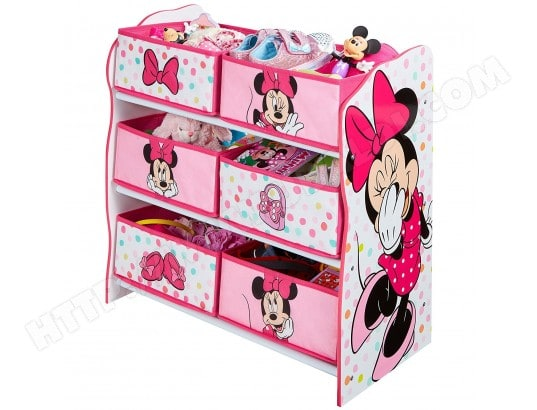 meuble de rangement rose 6 casiers motif minnie mouse worlds apart ma 32ca456meub 9dl46 pas cher. Black Bedroom Furniture Sets. Home Design Ideas