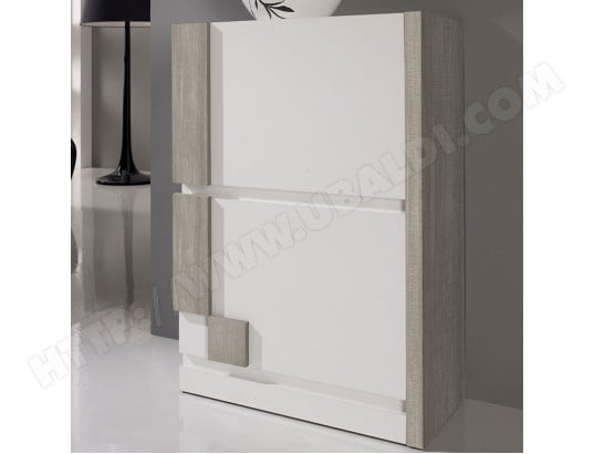 meuble chaussure moderne blanc couleur bois clair moscou 2 nouvomeuble ma 82ca604meub ogsaq pas. Black Bedroom Furniture Sets. Home Design Ideas