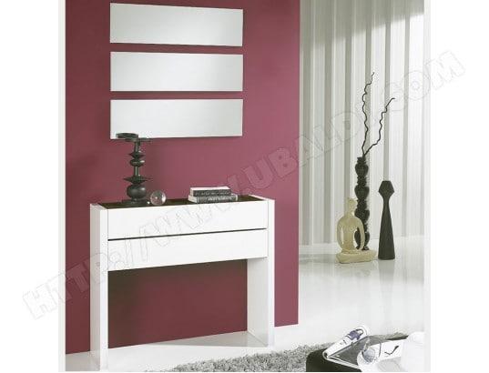 meuble entr e moderne blanc et couleur ch ne corfou 3 nouvomeuble ma 82ca551meub kting pas cher. Black Bedroom Furniture Sets. Home Design Ideas