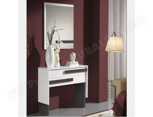 meuble d entr e blanc et gris moderne barbade nouvomeuble ma 82ca551meub altha pas cher. Black Bedroom Furniture Sets. Home Design Ideas