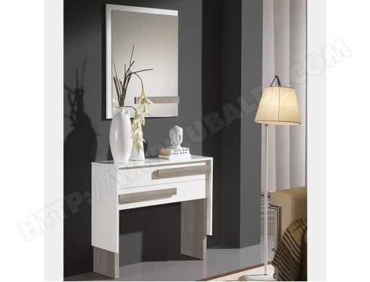 commode d entr e blanche couleur bois clair barbade 2 nouvomeuble ma 82ca551comm 0g1ag pas cher. Black Bedroom Furniture Sets. Home Design Ideas