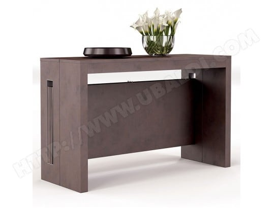 console transformable design effet b ton marita nouvomeuble ma 82ca182cons bbf60 pas cher. Black Bedroom Furniture Sets. Home Design Ideas