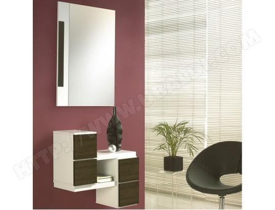 meuble pour entr e blanc couleur ch ne fonc armana 4 nouvomeuble ma 82ca551meub 3menb pas cher. Black Bedroom Furniture Sets. Home Design Ideas