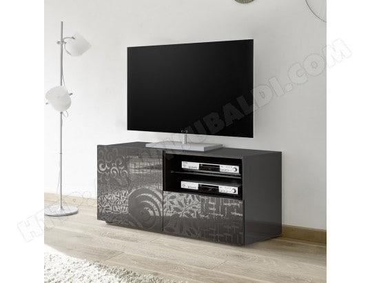 nouvomeuble petit meuble tv 120 cm gris laque design elma 2 ma 82ca487peti bh3tk