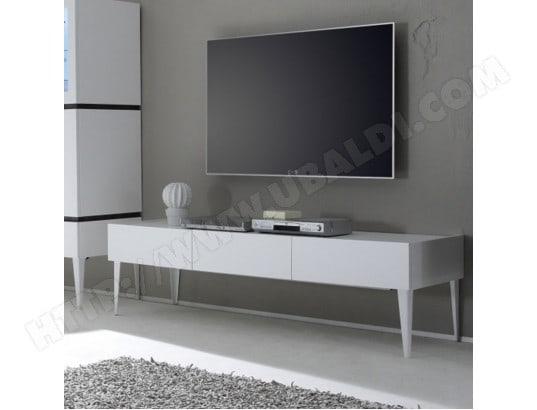 Meuble Tv Design Blanc Mat Valerona 2 Nouvomeuble Ma 82ca487meub 38cc3 Pas Cher Ubaldi Com