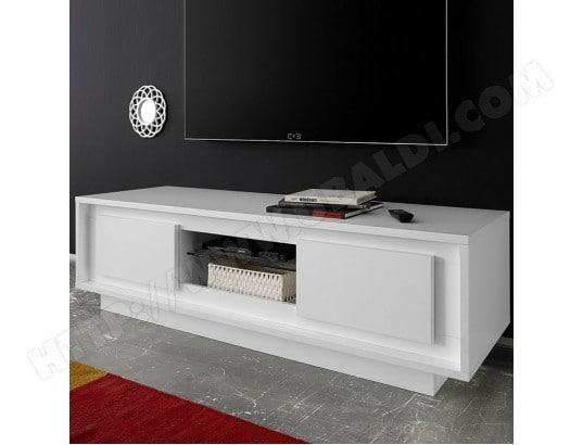 Meuble Tv Design Blanc Laque Mat Erine 5 Nouvomeuble Ma 82ca487meub 67hd6 Pas Cher Ubaldi Com
