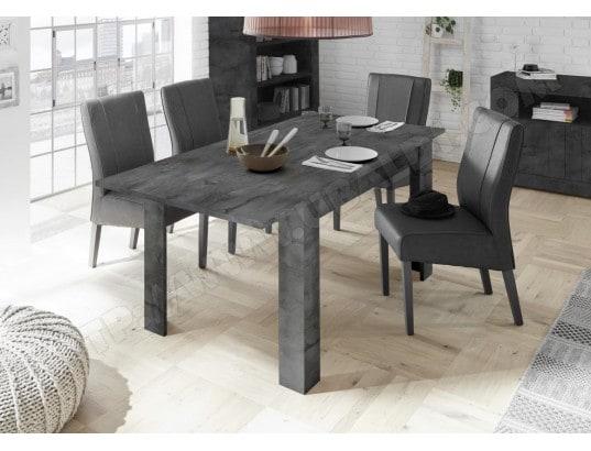 table manger 140 cm gris anthracite rallonge 50 cm urban nouvomeuble ma 82ca492tabl a10xi. Black Bedroom Furniture Sets. Home Design Ideas