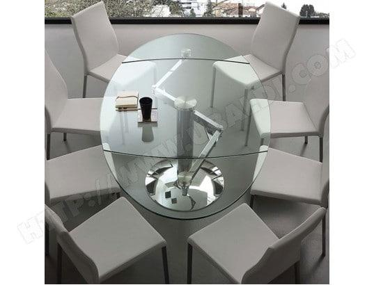 Design Table Nouvomeuble Extensible Bonito Ma En Verre 82ca492tabl FJTKl1c3
