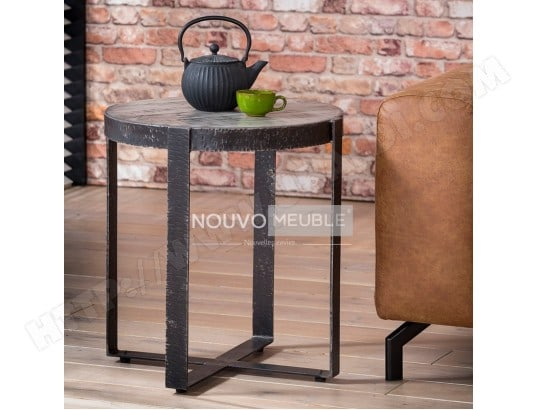 Table D Appoint Ronde Industrielle Madison Nouvomeuble Ma