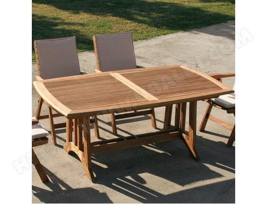 Table de jardin en bois extensible BEGONIA NOUVOMEUBLE MA ...