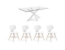 Ensemble table et chaises JULIA GRUP Table Arya blanche 200
