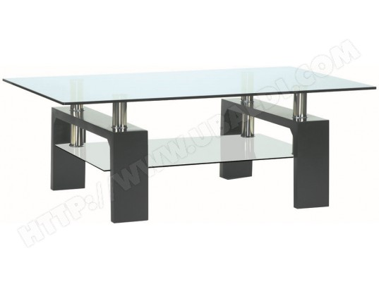 Table basse UB DESIGN Dana 100 x 60 cm noire
