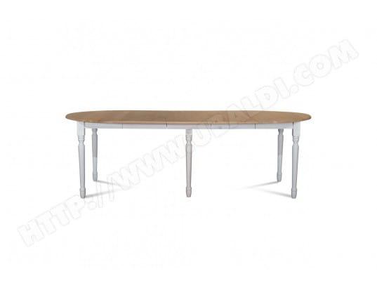 Ensemble Table ronde VICTORIA 6 pieds tournés 115 cm + 3 rallonges bois  HELLIN MA- 761122223e4e