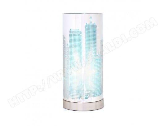 Touch Atmosphera Jj103400 Bleu Pas Lampe Cher Cylindre City LUGzSpVqM