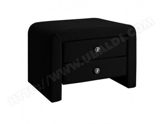 Table Chevet Design En Simili Cuir Eva Noir Meubler Design Ma