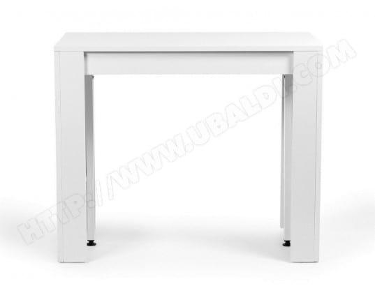 table console extensible bois blanc avec 5 rallonges extenso nomarque ma 78ca182tabl tn3zt pas. Black Bedroom Furniture Sets. Home Design Ideas