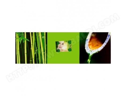 Tableau Triptyque Zen Avec 4 Petits Magnets Bambou Galets 30x90cm