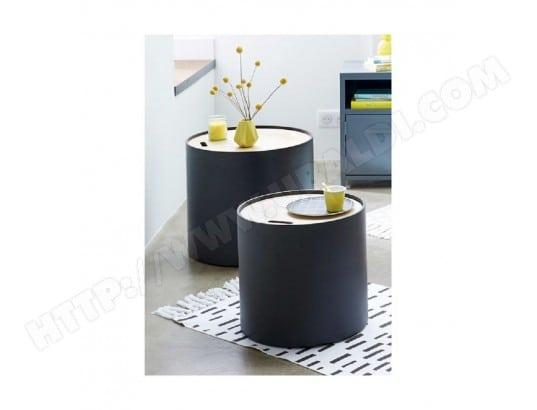 table basse coffre yuri lot de 2 noir atmosphera atmosphera ma 23ca182tabl 73kay pas cher. Black Bedroom Furniture Sets. Home Design Ideas