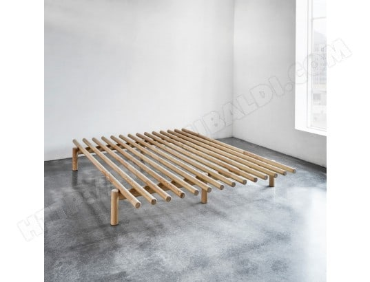 lit futon pace en pin naturel 160x200 terre de nuit ma 69ca195litf lgtpo pas cher. Black Bedroom Furniture Sets. Home Design Ideas