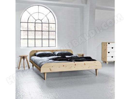 lit futon twist en bois naturel 160x200 terre de nuit ma 69ca195litf b0utb pas cher. Black Bedroom Furniture Sets. Home Design Ideas