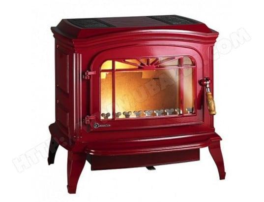 po le bois bradford rouge invicta bradford rouge pas cher. Black Bedroom Furniture Sets. Home Design Ideas