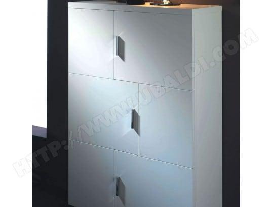 Meuble Rangement   Laqué Blanc Brillant   80x29x128   Lu0027unité CUBISL  IO_18199