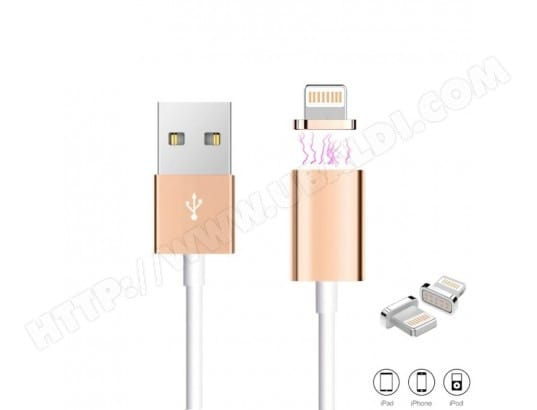 cable usb chargeur magn tique pour apple or generique 1519 2 pas cher. Black Bedroom Furniture Sets. Home Design Ideas